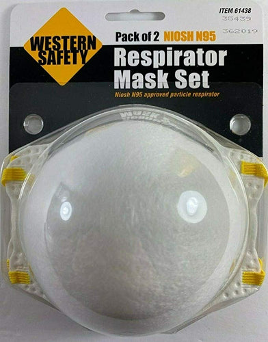 Western Safety 2pc Pack Premium DHHS Certified Fine Particulate Smoke Protective Face Coverings