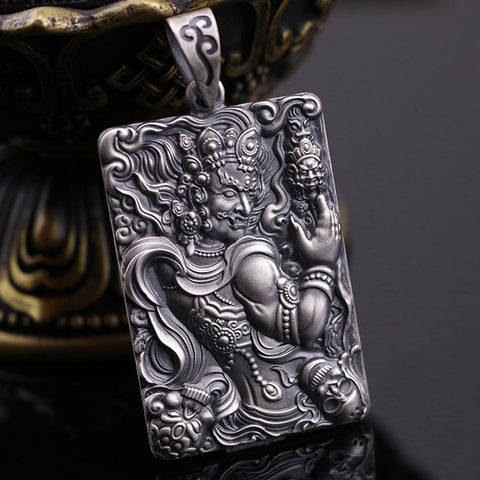 Acala The Destroyer of Delusions Silver Pendant | MANTRAPIECE