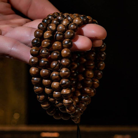 Agarwood Prayer Beads 108 Beads | MANTRAPIECE