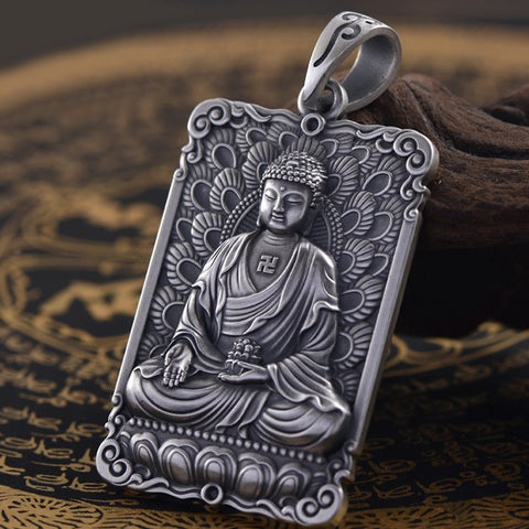 Amitabha Buddha of Infinite Merit and Light Pendant - Mantrapiece.com