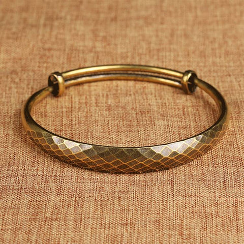 Auspicious Adjustable Brass Bracelet for Women - Mantrapiece.com