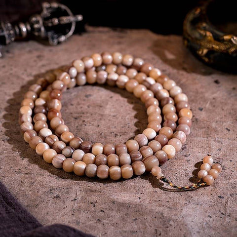 Blood-Filled Camel Bone Rosary Beads 108 Beads | Mantrapiece.com