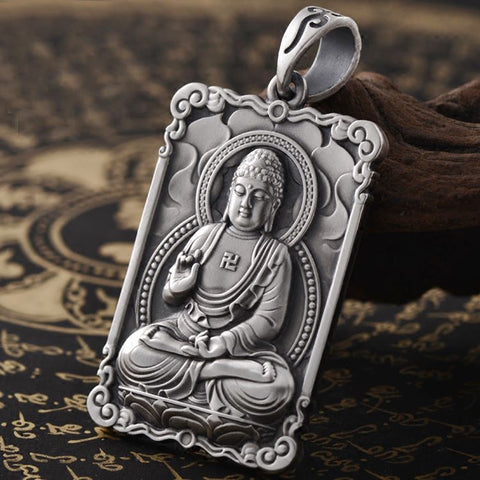 Buddha Protection and Overcoming Fear Pendant - Mantrapiece.com
