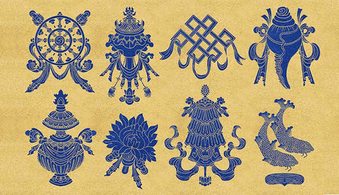 Eight Auspicious Symbols of Buddhism | MANTRAPIECE