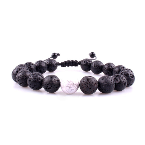 Lava Rock Howlite Wrist Mala Beads Adjustable 12pc Lot Wholesale - Mantrapiece.com