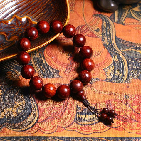Red Sandalwood Wrist Mala | Mantrapiece.com