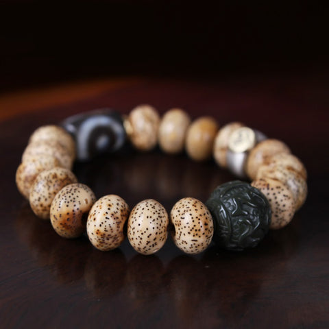 Tibetan Nobility and Luck Wrist Mala - Mantrapiece.com