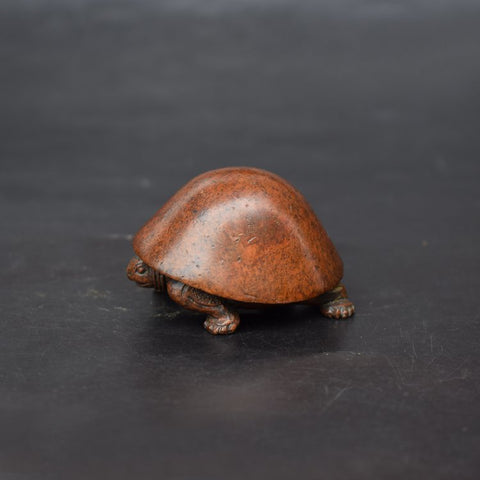 Tortoise Longevity and Medicine Antique Copper Statue - Mantrapiece.com