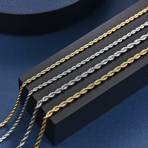 Twisted Stainless Steel Chain Necklace - Mantrapiece.com