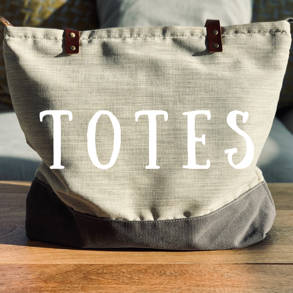 Our Collection Of Durable Genuine Cotton Canvas Tote Bags With Vintage Styling
