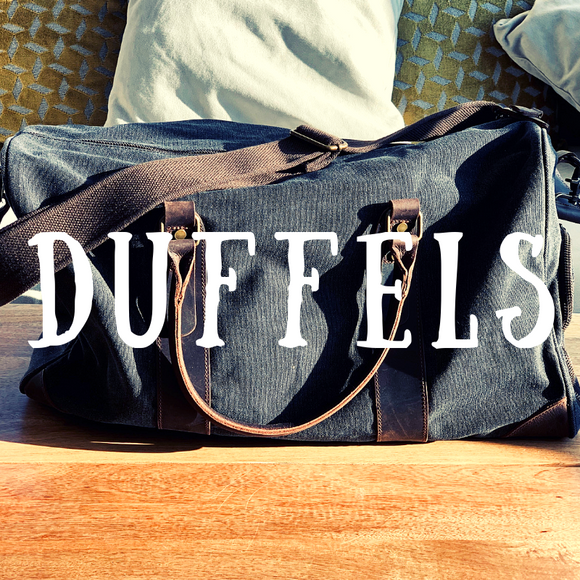 Browse Our Collection of High Quality Genuine Leather & Canvas Durable, Vintage-Styled Duffel Bags