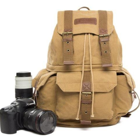 Overland Waxed Canvas DSLR Camera Backpack