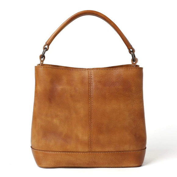 Saunter | Handmade Full-Grain Leather Messenger Purse | Clutch & Strap In Cognac Brown