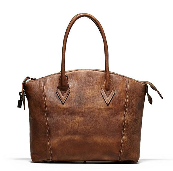 Eloise Vintage Brown Leather Handbag