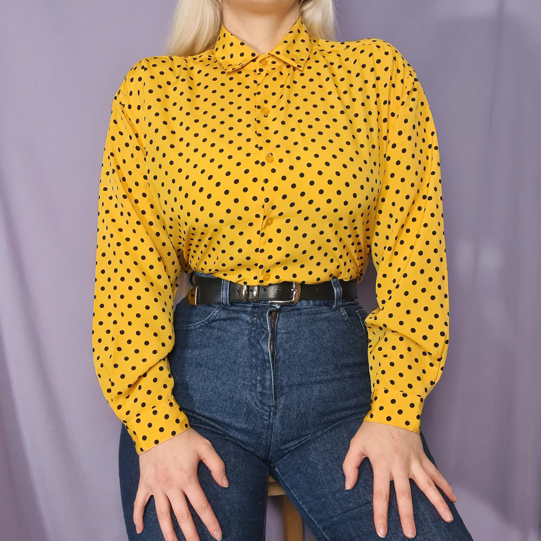 SALE ~ Vintage 90s Brown and Black Printed Top Size UK10/12