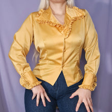 Load image into Gallery viewer, SALE ~ Vintage 90s Brown and Black Printed Top Size UK10/12