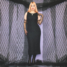 Load image into Gallery viewer, Vintage 90s Black Long Dress Size UK10/12