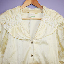 Load image into Gallery viewer, Vintage 80s Beige Blouse Size UK12