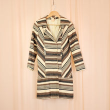 Load image into Gallery viewer, Vintage 70s Brown Striped Jacket Size UK8/10