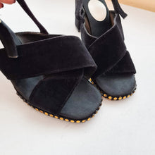 Load image into Gallery viewer, 70s Black Slingback Shoes