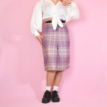 Load image into Gallery viewer, 70s Lilac and Beige Check Skirt