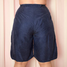 Load image into Gallery viewer, Vintage 90s Navy High Waist Shorts UK16/18