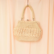 Load image into Gallery viewer, Vintage Beige Wicker Handbag