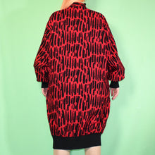 Load image into Gallery viewer, Vintage 80s Red and Black Dress Size UK14/16/18