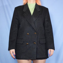 Load image into Gallery viewer, Vintage 80s Grey Blazer Jacket Size UK12
