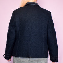 Load image into Gallery viewer, Vintage 90s Navy Blue Blazer Jacket Size UK14