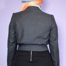 Load image into Gallery viewer, Vintage 80s Grey Blazer/Crop Jacket Size UK10