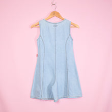 Load image into Gallery viewer, Vintage 90s Blue Denim Playsuit Size UK6