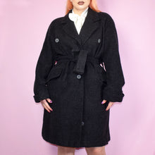 Load image into Gallery viewer, Vintage 80s Dark Grey Coat Size UK12/14