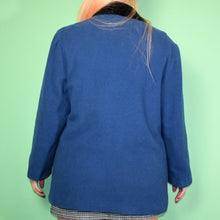 Load image into Gallery viewer, Vintage 80s Blue Coat Size UK12/14
