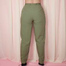 Load image into Gallery viewer, Vintage 90s Khaki Green High Waist Trousers Size UK12