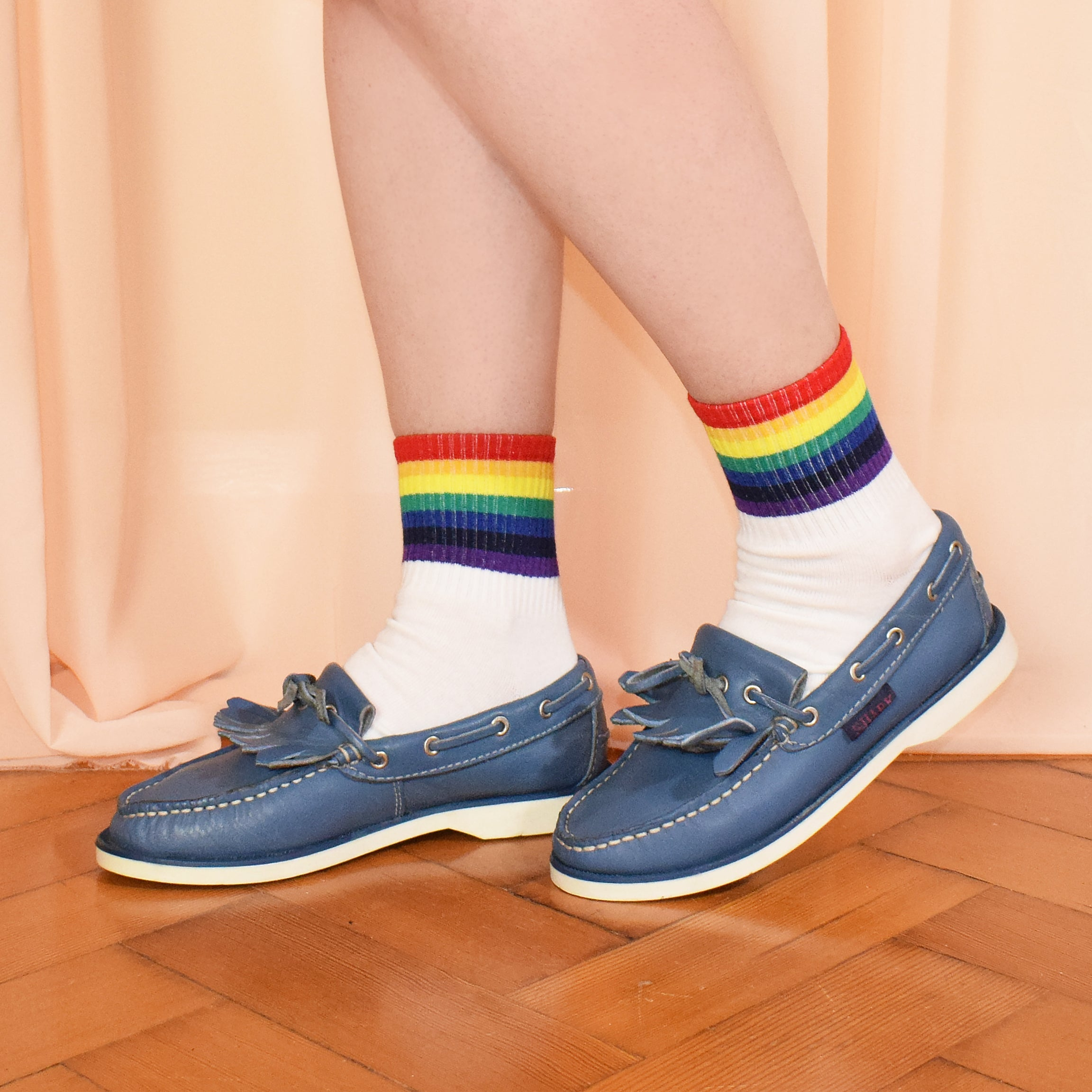 90s Blue Slip On Loafers