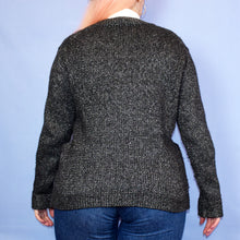 Load image into Gallery viewer, Dark Silver Cardigan Size UK12/14