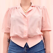 Load image into Gallery viewer, Vintage 70s Pastel Pink Blouse Size UK14
