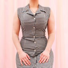 Load image into Gallery viewer, Vintage 90s Black and White Check Dress Size UK10