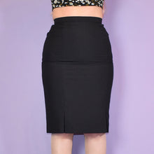 Load image into Gallery viewer, Vintage 90s Black Pencil Skirt UK10.