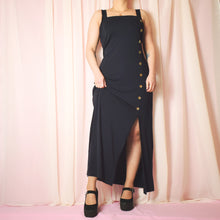 Load image into Gallery viewer, Vintage 90s Navy Blue Dress Size UK12/14/16