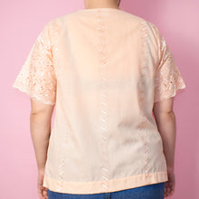 Load image into Gallery viewer, Vintage 90s Pastel Peach Blouse Size UK12