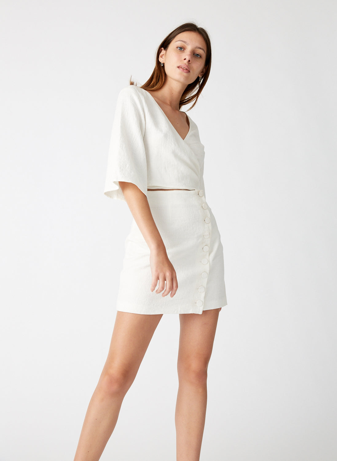 Closure Mini Wrap Dress