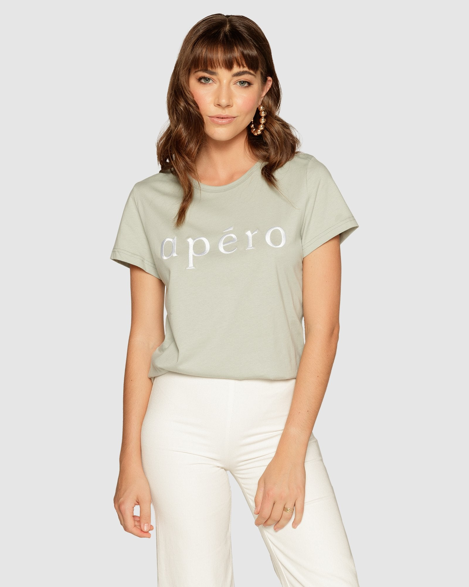 Apero Embroidered Femme Tee