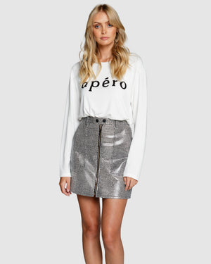 Apero Beaded Long Sleeve Top