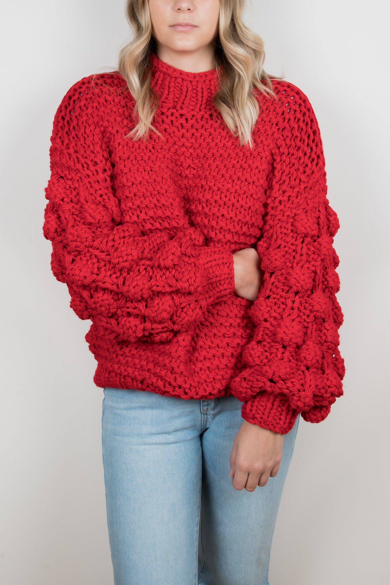 Zarena Bubble Knit Sweater