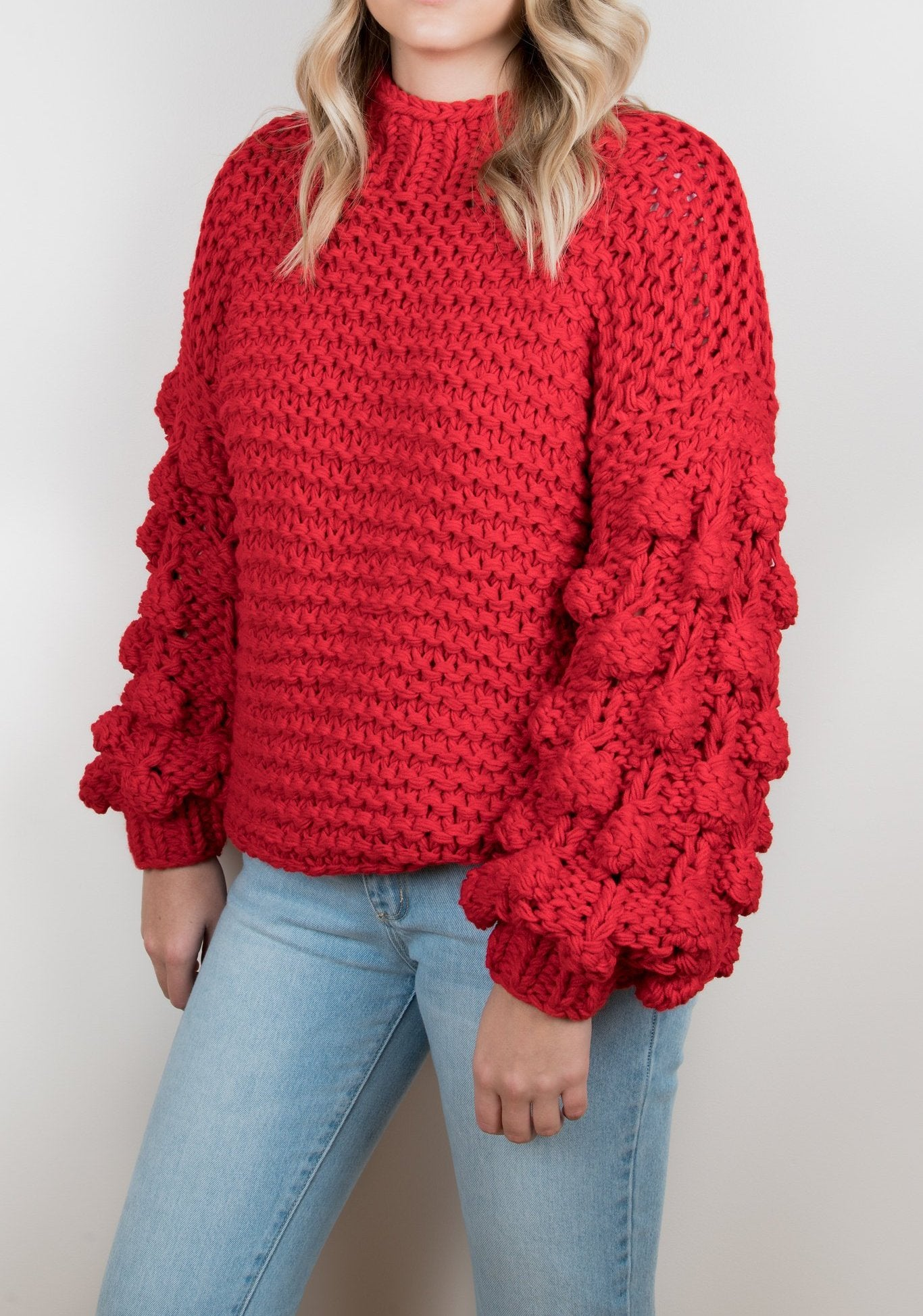 Bubble Knit Sweater