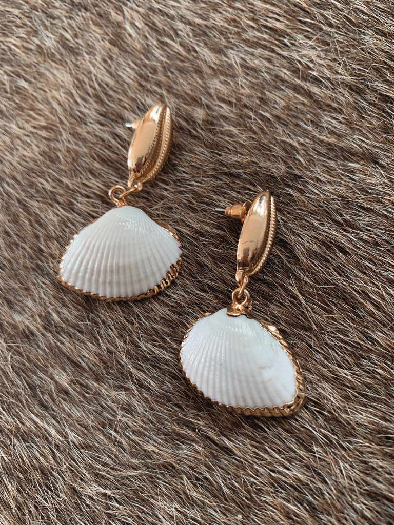Golden Cowrie Earrings