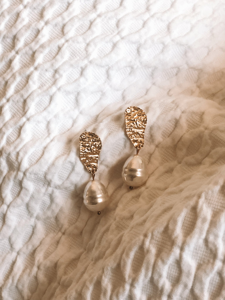 Soleil Pearl Drop Earrings