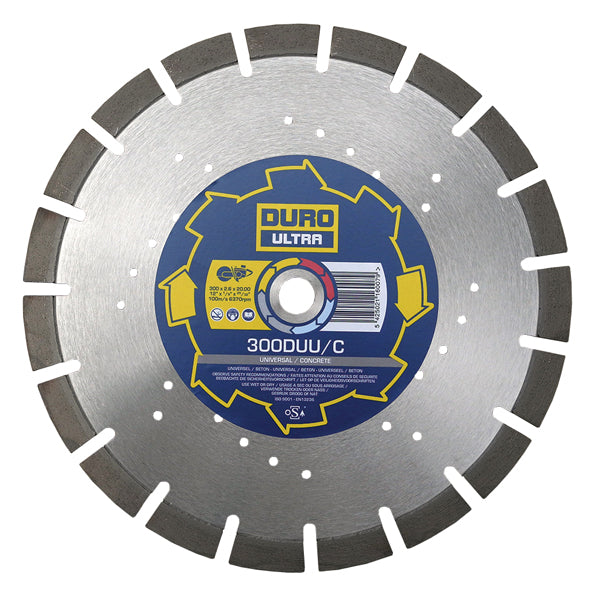 Duro DUU/C Diamond Cutting Blade 300mm/20mm Bore - Concrete & Building Material